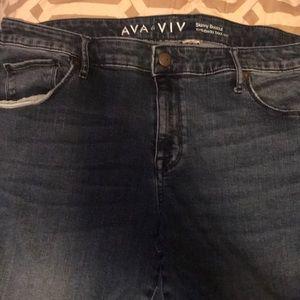 Ava & Viv Skinny Bootcut with knee tears